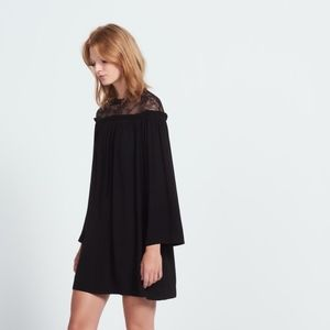 Sandro little black dress with lace